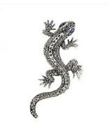Vintage Look Silver Plated Lizard Brooch Suit Coat Gecko Broach Pin Coll... - $12.98