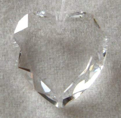 Swarovski 18mm Clear Crystal Flat Heart