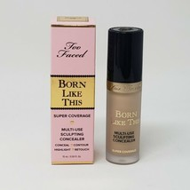 New Too Faced Born Like This Super Coverage Multi-Use Concealer 08 Almond  - $16.82