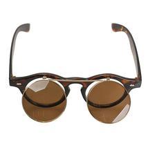 Retro Flip Up Round Lens Eyeglasses Lady Gaga Style for Man Woman - $30.50