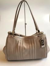 Coach Madison Cafe Carryall In Pintuck Leather Satchel Handbag Purse Bag... - $188.49