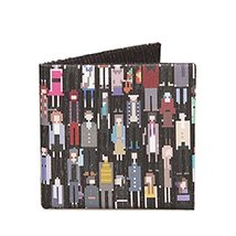 [Pixel Space] Foldable Trendy Wallet Slim Short Cotton Canvas Wallet/Purse