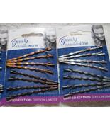 8 Goody Painted Wavy Bobby Slide Hair Pins Bobbies Fashionow Silver Bron... - $8.00