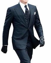 Mens James Bond Spectre Daniel Craig 3 Piece Black Suit image 1