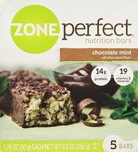 Zone Perfect Nutrition Bars, Chocolate Mint, 8.8 Oz (Pack of 2) - $19.64