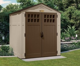 Outdoor Storage Shed 6 x 5Ft Double Wall Resin Floor Patio All Weather F... - $1,028.15