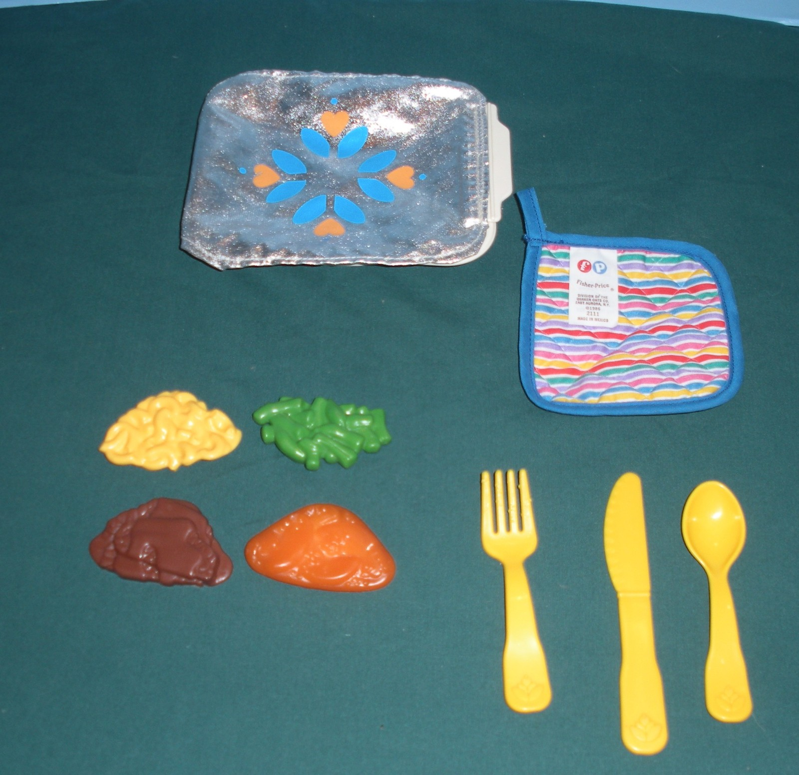 Vintage Fisher Price Fun with Food TV Dinner Complete/EXC+++-NR MINT! (B)