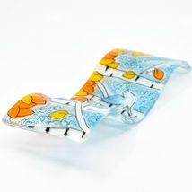 Fused Art Glass Bluebird Fall Aspen Tree Wavy Decor Sun Catcher Handmade Ecuador image 6