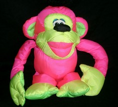 FISHER PRICE PUFFALUMP PINK CHATTERING CHIMP MONKEY STUFFED ANIMAL PLUSH... - $23.38