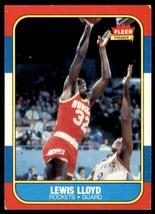 1986-87 Fleer Basketball Premier Lewis Lloyd Houston Rockets #65 - $0.50