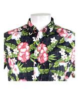 Tony Hawk Inversa Stampa Ibisco Fiori Grande Hawaiano Aloha Camicia - $25.97