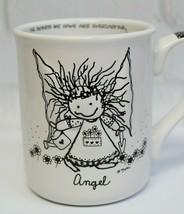 Angel Embossed Coffee Mug Marci Children Inner Light Enesco Folk Art Whi... - $19.99
