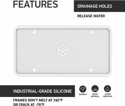 Flawless Silicone License Plate Frame, Rust-Proof, Rattle-Proof, Weather-Proof image 3