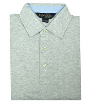 Brooks Brothers Heather Gray Slim Fit Soft Knit Polo Shirt Sz Large L 3190-7 - $46.27