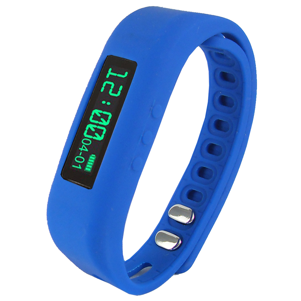 Supersonic 0.91 Fitness Wristband With Bluetooth Pedometer, Calorie Counter and