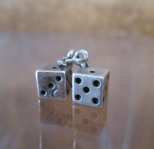 Sterling Silver Bracelet Charm  DICE Snake Eyes, Sixes Sevens and Nines ... - $54.45