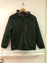 Gap Kids Boys Green Gray Fleece Lined Hooded Jacket Size L Large 10 - $28.95