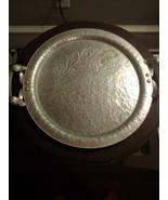 Vintage Continental Mark Hand Wrought Silverlook 578 Round Hammered Serv... - $19.75