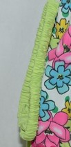 Mon Petit Lime Green Flowered Babydoll Top Bloomers Elastic Headband 24 Month image 2