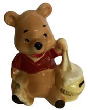 Winnie POOH Bear Honey Pot Porcelain Figurine Japan Walt Disney Production VTG - $22.99