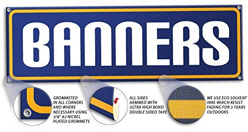 Custom Banner Personalized Banner Made in the U.s.a Heavy Duty 13oz Vinyl Materi