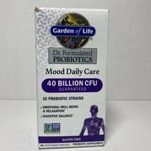 Garden of Life Probiotics Mood Daily Care 40 Billion CFU 30 Capsules Exp... - $13.85