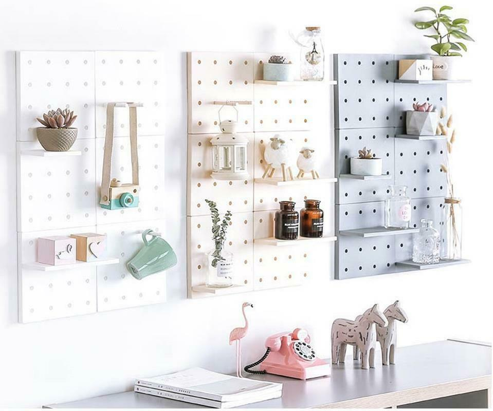 Hole Plate Wall Storage Rack Living Room Kitchen Suction Holders Home Organizers image 6