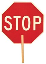 """Stop Sign 5950 Non Reflective Double Sided With 9"""" Handle """"Stop/Slow Eas... - $33.36"""