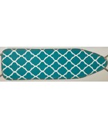 """Padded Ironing Board Cover & Pad (54"""" boards) AQUA COLOR & WHITE DESIGN,... - £13.53 GBP"""