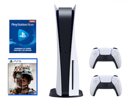 Newest Sony PS5 PlayStation 5 Console DISC Call of Duty Bundle - Ready To Ship image 1