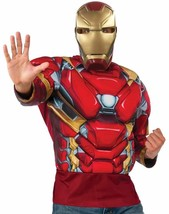 Iron Man Top Captain America Civil War Halloween Deluxe Adult Costume Accessory - $45.53