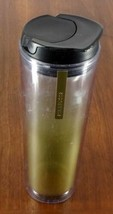 STARBUCKS COFFEE COMPANY 2013 16 oz Travel Tumbler Clear Gold Frost  - $23.86