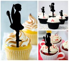 Decorations Wedding,Birthday Cupcake topper,silhouette Kids couple : 10 pcs - $10.00