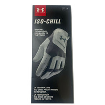 Under Armour ISO-Chill Golf Glove Men's Left Hand Medium White Grey NWT - $14.99