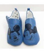 Disney Baby Mickey Mouse Crib Shoe Soft Moccasin Size 12-18 Months Blue New - $14.80