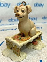 "Lowell Davis ""Pig in a Trough"" Ornament 1985 Schmid 223502 Country Christmas - $56.91"