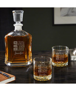 Dad From Daughter Gift - Engraved Argos Decanter Set - $69.95