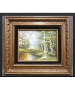 1970 Richard Schiller Summer Stream Oil painting. Original painting - $395.01