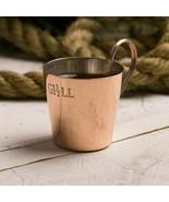HMS Copper Brass 1/2 Gill Royal Navy Rum Mug Tot Measure - $27.48