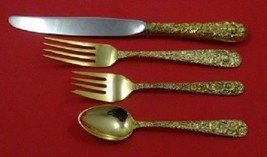 Repousse Gold By Kirk Sterling Silver Regular Size Place Setting(s) 4pc - $264.20