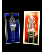 Mikasa Monterey Clear Glass Bottle Stopper 5.5 inches Long New in Box - $14.84