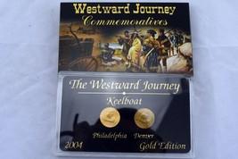 2004 Westward Journey Keelboat Nickel Commemorative Gold Edition   P&D Set - $4.80