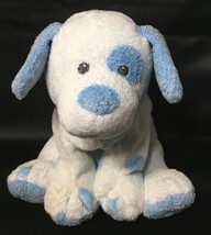 "Ty Pluffies Baby Pups White Blue Spots Plush Puppy Dog Sewn Eyes 2007 Beanie 8"" - $39.99"