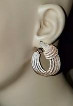 ZirconZ-Pave Signty CZ Insideoutside Layered Sterling Silver Omega Hoop Earrings - $229.99