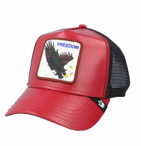 Goorin Bros Snapback Mesh Cap Red Big Bird Freedom Eagle Trucker Hat 101-0842 image 3