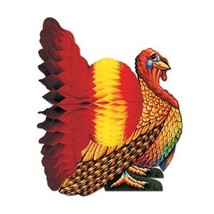 "Beistle S99066AZ2 Tissue Turkey Centerpieces 12"", Pack of 2 - $12.02"