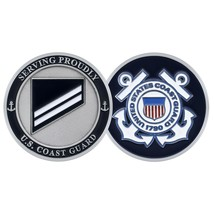 "COAST GUARD E-2 SEAMAN APPRENTICE  1.75"" CHALLENGE COIN - $17.14"