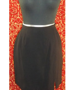 LIZ CLAIBORNE COLLECTION VINTAGE 80s black wool fitted mini skirt 2P (T3... - $14.83