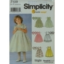 Simplicity 7109 Girls Dress Jacket 3-4-5-6-7-8 OOP - $18.00