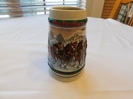 1993 Special Delivery Budweiser Holiday Stein Collection Christmas Clydesdale - $39.59